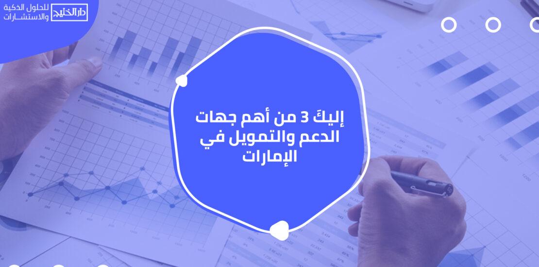 أهم جهات الدعم والتمويل في الإمارات